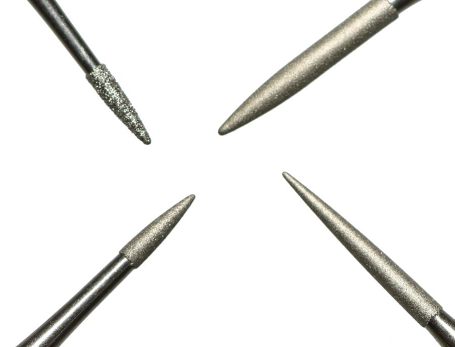 Ancient Coins - Set of 4 Professional Diamond Coated Pin Tools for Cleaning & Restoring Roman & Greek Coins