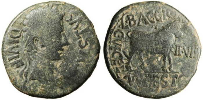 "Ancient Coins - Elagabalus AE24 ""Poseidon With Trident, Grasping Arm of Nymph"" Berytos Phoenicia"