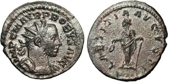 "Ancient Coins - Probus, BI Ant ""Laetitia"" Lyons 276 AD RIC 31 gVF"