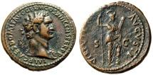 "Ancient Coins - Domitian AE As ""VIRTVTI AVGVSTI Virtus"" Rome Mint 87 AD RIC 551 Lovely VF"