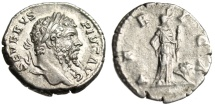 "Ancient Coins - Septimius Severus Silver Denarius ""AFRICA Africa With Lion"" Rome 207 AD Scarce"