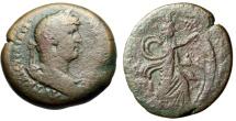 "Ancient Coins - Hadrian AE Drachm of Egypt, Alexandria ""Isis Pharia Blowing Sail"""