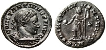"Ancient Coins - Constantine I The Great Follis ""PRINCIPI IVVENTVTIS Princeps"" London RIC 222 aEF"