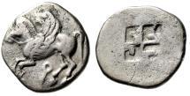 "Corinthia, Corinth Archaic AR Stater ""Pegasus & Quadripartite Pattern"" Very Rare"