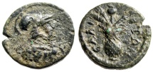 "Ancient Coins - Aeolia, Elaia Psuedo-Autonomous Issue ""Helmeted Athena & Grains Poppy"" Scarce"