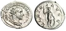 "Ancient Coins - Volusian Silver Antoninianus ""VIRTVS AVGG Virtus"" Rome RIC 206 aEF Luster"