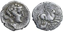 "Ancient Coins - Islands of Epirus, Corcyra (Korkyra) AR Didrachm ""Dionysos & Pegasus, Galley"" VF"