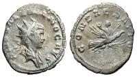 "Ancient Coins - Valerian II Posthumous AR Antoninianus ""Carried on the Wings of Eagle"" RIC 9"