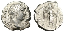 """Ancient Coins - Hadrian Silver Denarius 'COS III Victory With Large Palm Frond"""" Rome RIC 182"""