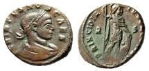 "Ancient Coins - Crispus Caesar AE20 ""PRINCIPIA IVVENTVTVS Mars"" Arles (Arelate) RIC 132 Scarce"