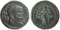 "Ancient Coins - Diocletian AE Follis ""Moneta with Scales"" Aquileia 301 AD Scarce Officina nEF"