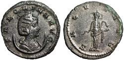 "Ancient Coins - Salonina (Wife of Gallienus) Silvered Antoninianus ""SALVS AVG Salus, Snake"" gVF"