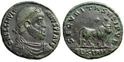 "Ancient Coins - Julian II The Apostate AE1 ""Apis Bull Standing, Stars"" Sirmium RIC 106 aVF"