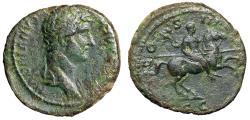 "Ancient Coins - Hadrian AE As ""Emperor on Horseback, Spear"" Rome RIC 717c VF"