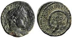 "Ancient Coins - Severus Alexander AE22 of Caesarea Maritima in Judea ""Eagle, SPQR Wreath"" VF"