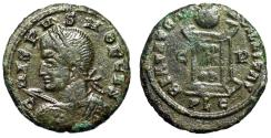 """Ancient Coins - Crispus AE17 """"Bust With Shield & Spear / Altar"""" Lyons RIC 170 Variant Very Rare"""
