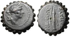 """Ancient Coins - Demetrios I Soter Serrated AE20 """"Artemis & Bow, Quiver"""" Antioch VF"""