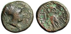 "Ancient Coins - Attica, Athens AE15 ""Helmeted Athena & Owl in Wreath"" Kroll 50 Good-Fine Scarce"