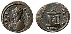 "Ancient Coins - Probus AE Antoninianus ""ROMAE AETER Roma in Temple"" Rome Mint RIC 184 VF"