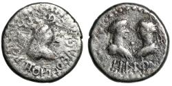 "Ancient Coins - Bosporus Kingdom: Rheskuporis IV Billon Stater ""Two Portraits"" Very Rare"