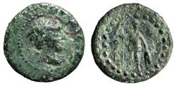 """Ancient Coins - Lycia, Oinoanda AE19 """"Hermes in Winged Cap & Ares, O over B"""" Very Rare"""