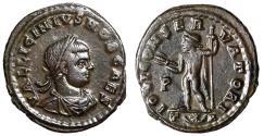 "Ancient Coins - Licinius II Caesar AE21 ""Jupiter With Thunderbolt"" Arles RIC 167 VF"