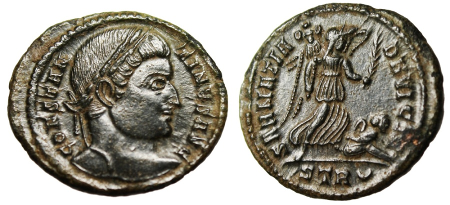 """Ancient Coins - Constantine I The Great AE3 """"SARMATIA DEVICTA Victory Captive"""" Trier RICE 435 EF"""