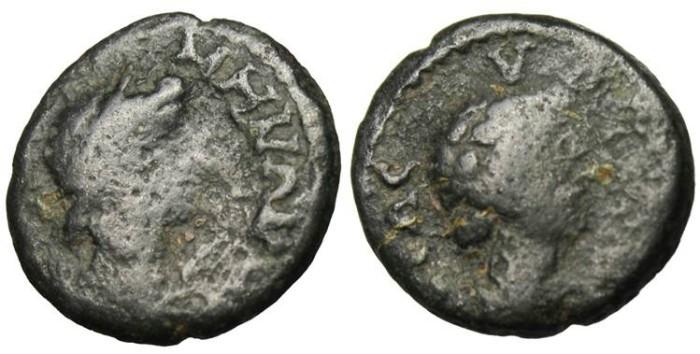 """Ancient Coins - Mysia, Germe Autonomous AE 14 """"Senate & Apollo"""" Time of Trajan"""