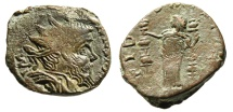 "Ancient Coins - Postumus AE Dupondius ""Fides With Two Standards"" Gallic RIC 123-125cf Rare"