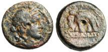 """Ancient Coins - Alexander I Balas AE14 """"Dionysos & Elephant"""" Antioch SNG Cop 266 Very Rare"""
