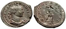 "Ancient Coins - Florian AE Antoninianus ""VIRTVS AVGVSTI Virtus Advancing"" Lyons RIC 15 Scarce"
