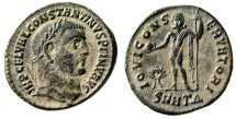 "Ancient Coins - Constantine I The Great AE Follis ""Jupiter, Wreath"" Heraclea RIC Unrecorded Rare"