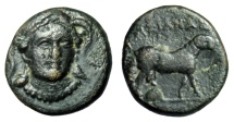 "Ancient Coins - Ionia, Klazomenai AE12 ""Helmeted Athena Facing & Ram"" Timexianas Magistrate VF"