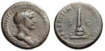"""Ancient Coins - Trajan AE As """"Club of Hercules on Lion Skin Head"""" Rome 104 AD RIC 581"""
