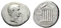 "Ancient Coins - Augustus Cistophoric Silver Tetradrachm ""COM ASIAE Temple, ROM ET AVGVST"" Scarce"