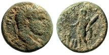 "Ancient Coins - Caracalla AE24 ""Hercules, Two Baetyl (Ambrosial Rocks)"" Phoenicia Tyre Very Rare"