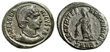 "Ancient Coins - Helena (Mother of Constantine I) AE20 ""Securitas"" Heraclea RIC 85 Near EF"