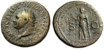 "Ancient Coins - Titus Sestertius ""Spes Walking, Flower"" Rome 80-81 AD RIC 170 Good Fine"