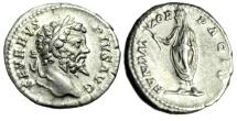 """Ancient Coins - Septimius Severus Silver Denarius """"FVDATOR PACIS Emperor Togate"""" Rome RIC 265"""