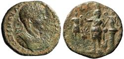 "Ancient Coins - Elagabalus AE29 of Pheonicia, Tyre ""Astarte, Trophy, Victory & Murex Shell"""