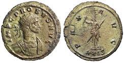 "Ancient Coins - Probus Silvered Antoninianus ""PAX AVG Pax"" Siscia RIC 707 Scarce Good VF"