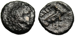 """Ancient Coins - Alexander III The Great AE16 """"Herakles & Eagle on Thunderbolt"""" Scarce No Control"""