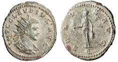 "Ancient Coins - Claudius II Gothicus Silvered Antoninianus ""SALVS AVG Isis Faria"" Antioch EF"