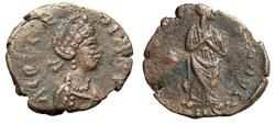 "Ancient Coins - Aelia Galla Placidia ""CONCORDIA AVG Standing"" Extremely Rare Unpublished"