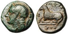 "Ancient Coins - Ionia, Klazomenai AE11 ""Athena & Reclining Ram"" Nymphodoros Magistrate Scarce"
