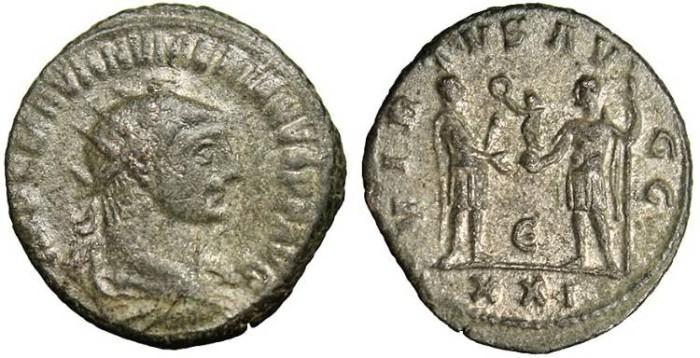 "Ancient Coins - Numerian, AE Ant. ""Virtus"" Antioch 283-284 AD RIC 466"