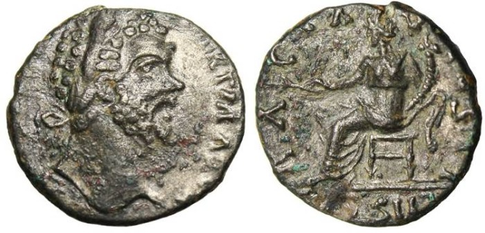 "Ancient Coins - Septimius Severus, Fouree Denarius""Abundantia"" Rare Unpublished"