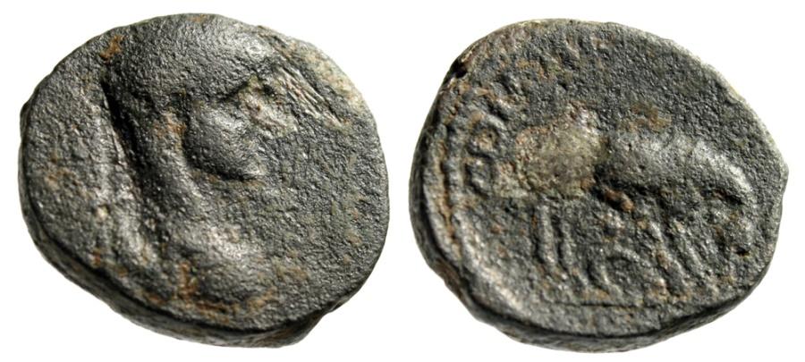 "Ancient Coins - Elagabalus AE23  Judea, Aelia Capitolina (Jerusalem) "" She-Wolf, Romulus, Remus"""
