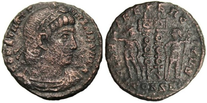 """Ancient Coins - Constantine I The Great """"GLORIA EXERCITVS"""" Constantinople RIC 59"""