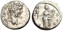 "Ancient Coins - Septimius Severus Silver Denarius ""LIBER AVG Liberalitas"" Emesa RIC 398 gVF"